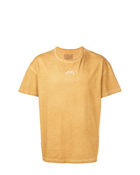 T-shirt girocollo stampata marrone chiaro di A-Cold-Wall*