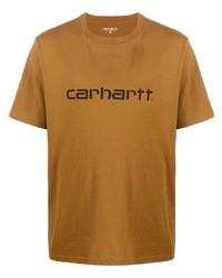 T-shirt girocollo stampata marrone chiaro di Carhartt WIP