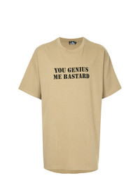 T-shirt girocollo stampata marrone chiaro di Hysteric Glamour