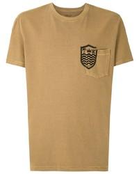 T-shirt girocollo stampata marrone chiaro di OSKLEN