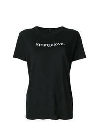 T-shirt girocollo stampata nera e bianca di R13