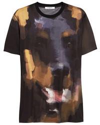 T-shirt girocollo stampata nera