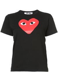 T-shirt girocollo stampata nera di Comme des Garcons