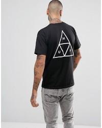 T-shirt girocollo stampata nera di HUF