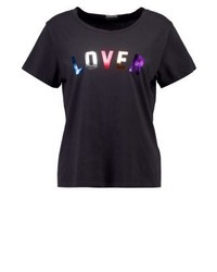 T-shirt girocollo stampata nera di Mother