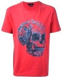 T-shirt girocollo stampata rossa