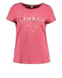 T-shirt girocollo stampata rossa di Esprit