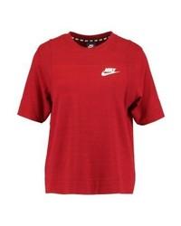 T-shirt girocollo stampata rossa di Nike
