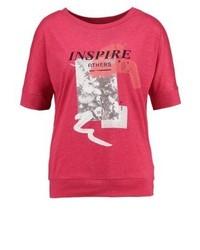 T-shirt girocollo stampata rossa di s.Oliver
