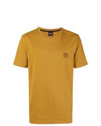 T-shirt girocollo stampata terracotta di BOSS HUGO BOSS