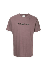 T-shirt girocollo stampata viola melanzana