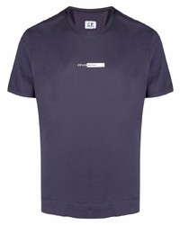 T-shirt girocollo stampata viola di C.P. Company