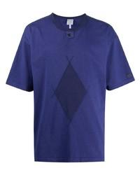 T-shirt girocollo stampata viola di Craig Green