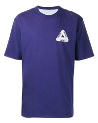 T-shirt girocollo stampata viola di Palace