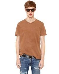 T-shirt girocollo terracotta