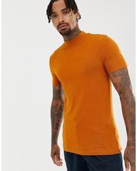 T-shirt girocollo terracotta di ASOS DESIGN