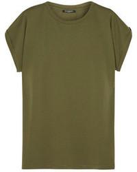 T-shirt girocollo verde oliva