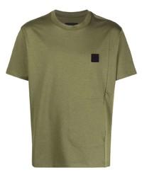 T-shirt girocollo verde oliva di A-Cold-Wall*