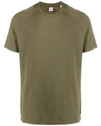 T-shirt girocollo verde oliva di Aspesi
