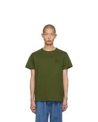 T-shirt girocollo verde oliva di Loewe