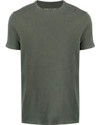T-shirt girocollo verde oliva di Majestic Filatures
