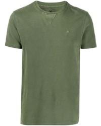 T-shirt girocollo verde oliva di Manuel Ritz