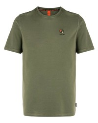 T-shirt girocollo verde oliva di Raeburn