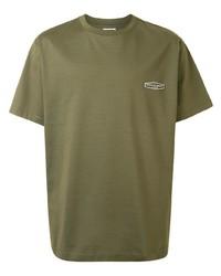 T-shirt girocollo verde oliva di Wooyoungmi