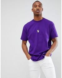 T-shirt girocollo viola