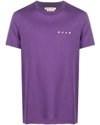 T-shirt girocollo viola di Marni