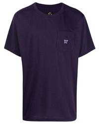T-shirt girocollo viola di Needles