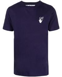 T-shirt girocollo viola di Off-White