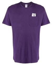 T-shirt girocollo viola di RIPNDIP
