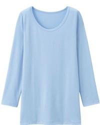 T-shirt manica lunga azzurra