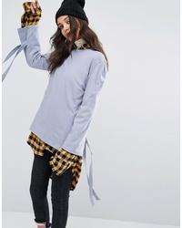 T-shirt manica lunga azzurra di STYLE NANDA
