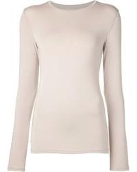 T-shirt manica lunga beige