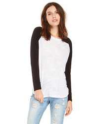 T-shirt manica lunga bianca e nera