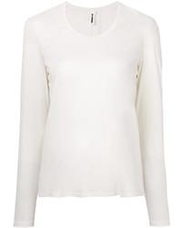 T-shirt manica lunga bianca di Jil Sander