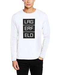 T-shirt manica lunga bianca di Karl Lagerfeld