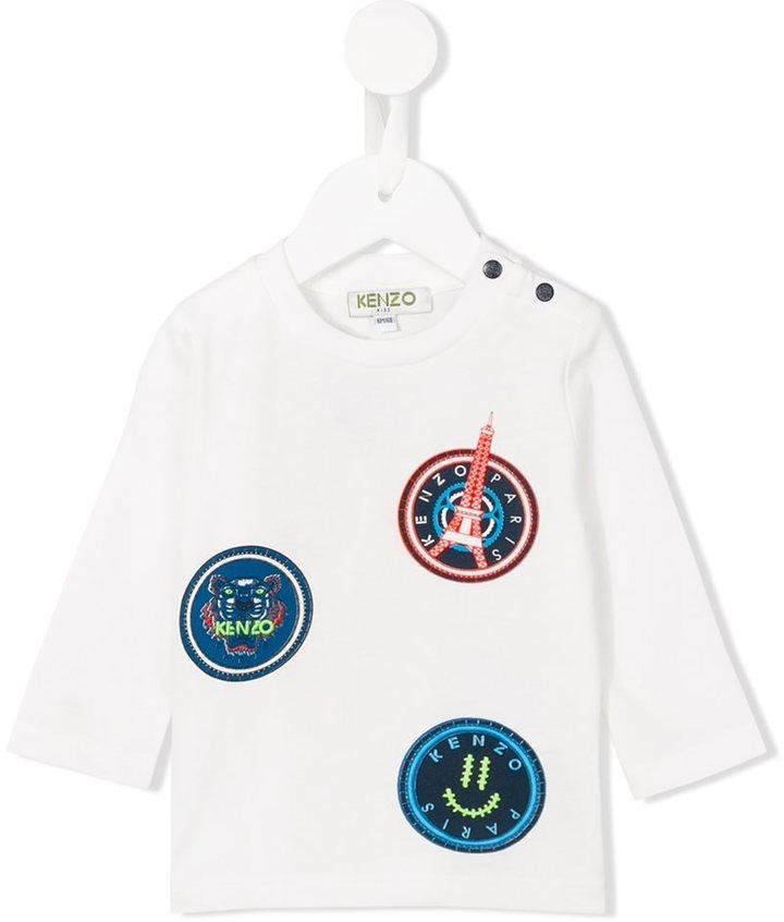 T-shirt manica lunga bianca di Kenzo