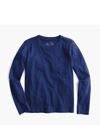 T-shirt manica lunga blu scuro