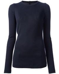 T-shirt a maniche lunghe blu scuro