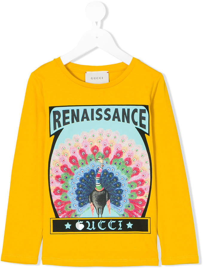 T-shirt manica lunga gialla