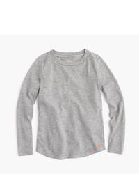 T-shirt a maniche lunghe grigia