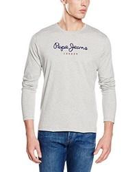 T-shirt manica lunga grigia di Pepe Jeans
