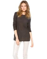 T-shirt manica lunga grigio scuro