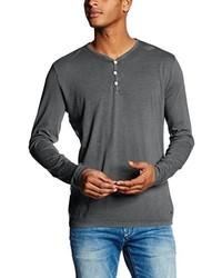 T-shirt manica lunga grigio scuro di Hilfiger Denim