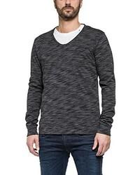 T-shirt manica lunga grigio scuro di Replay