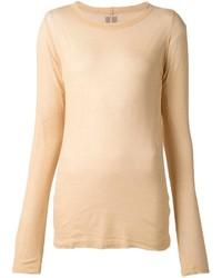 T-shirt manica lunga marrone chiaro