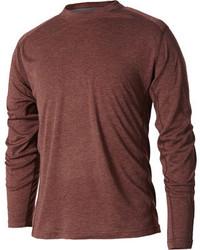 T-shirt manica lunga marrone